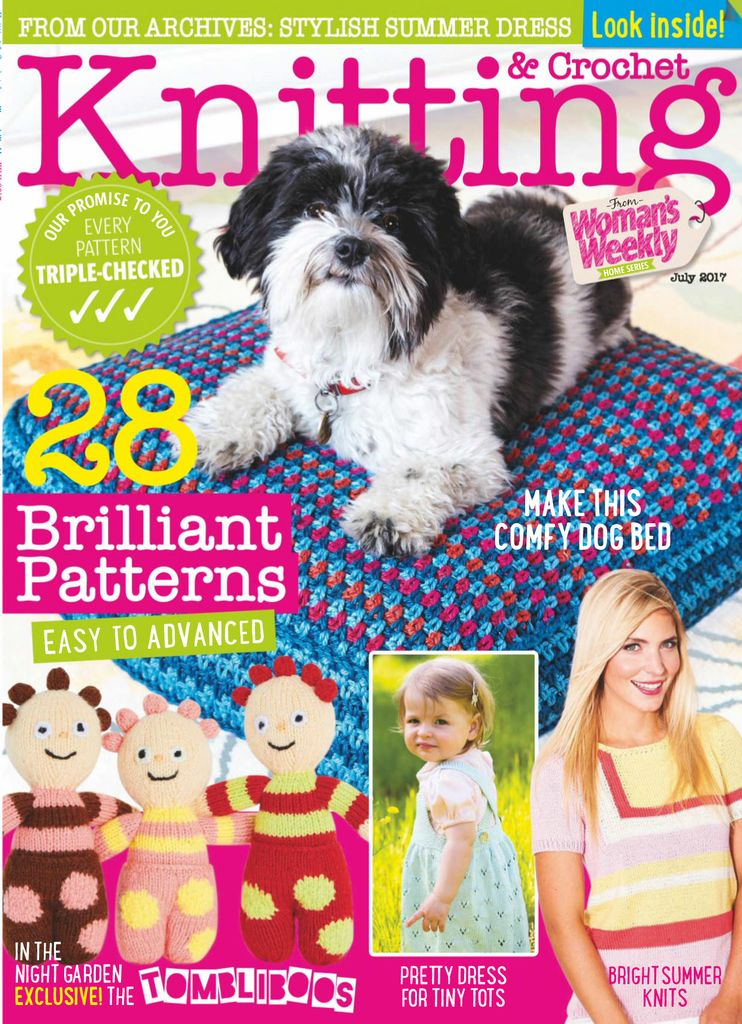 Back issues of Knitting & Crochet from Woman\'s Weekly