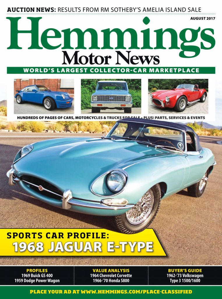 Buy August 2017 - Hemmings Motor News