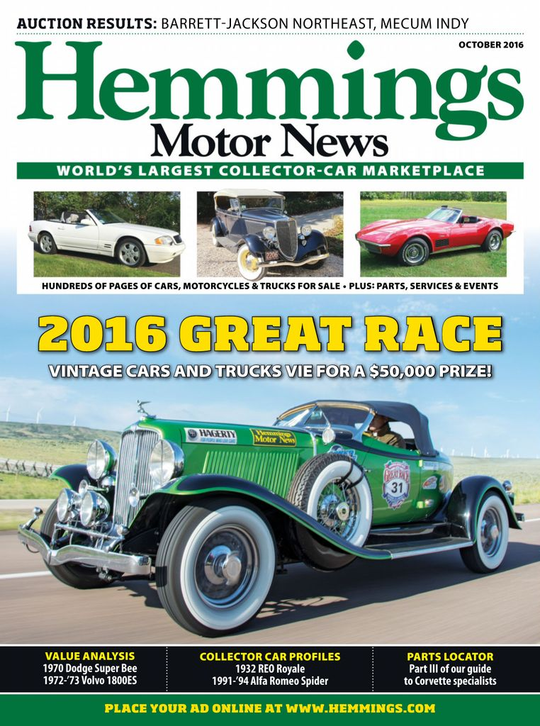 Back issues of Hemmings Motor News