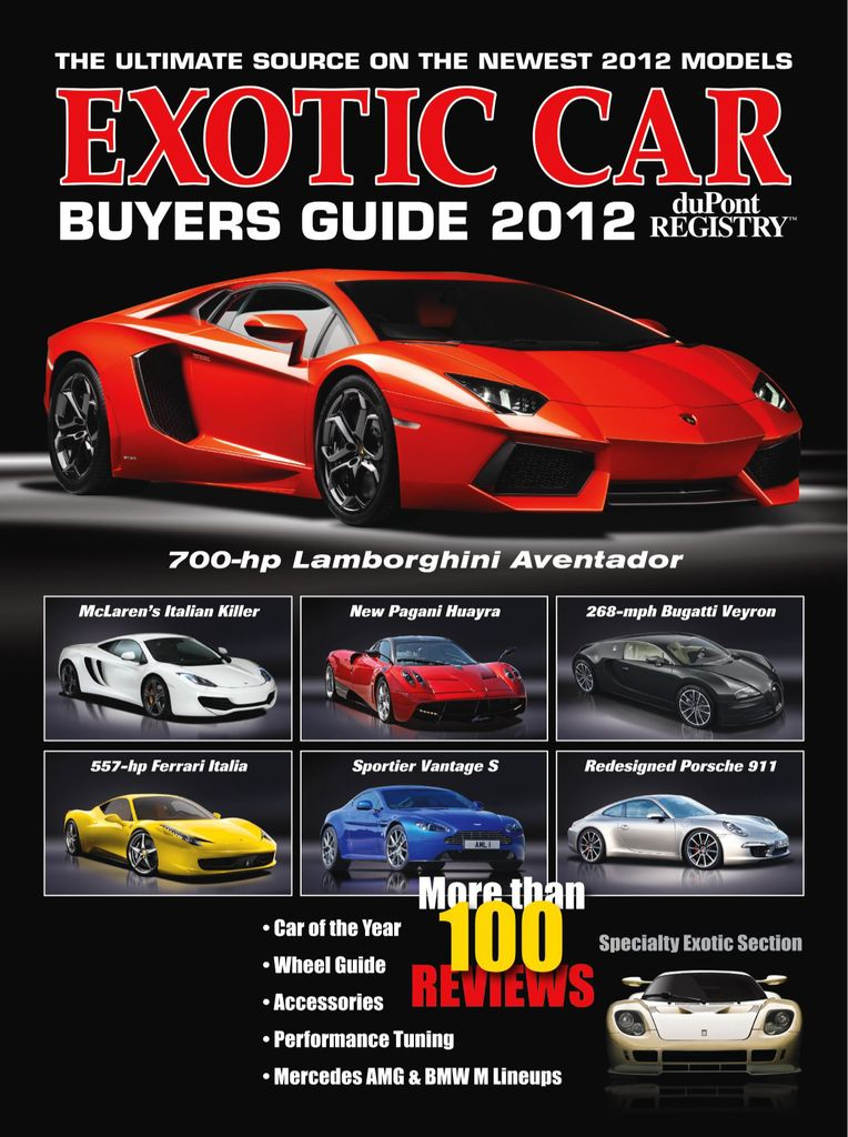 Exotic Car Buyers Guide Subscription