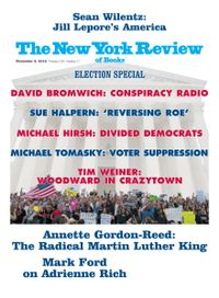 November 07, 2018 issue of New York Review of Books
