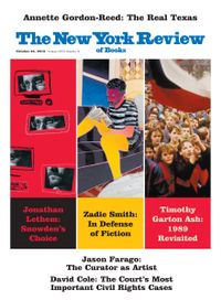 October 23, 2019 issue of New York Review of Books
