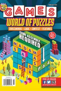 January 31, 2019 issue of Games World of Puzzles