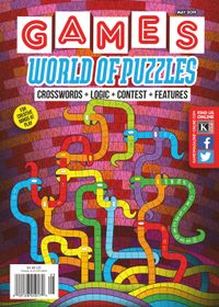 April 30, 2019 issue of Games World of Puzzles