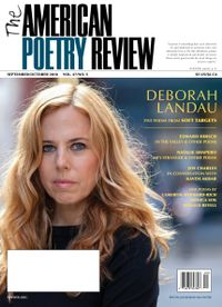 September 01, 2018 issue of The American Poetry Review