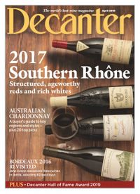 March 31, 2019 issue of Decanter