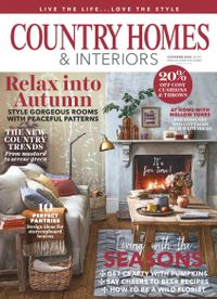 September 30, 2018 issue of Country Homes & Interiors