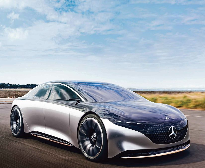 We try Mercedes' luxury Vision