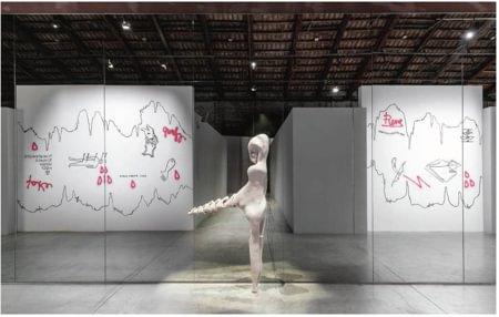 Paesaggio metafisico per tre artisti