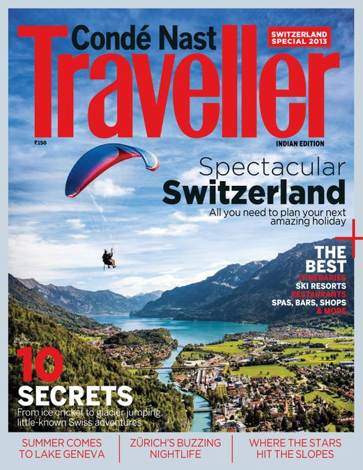 Conde Nast Traveller India - Swiss Special Issue