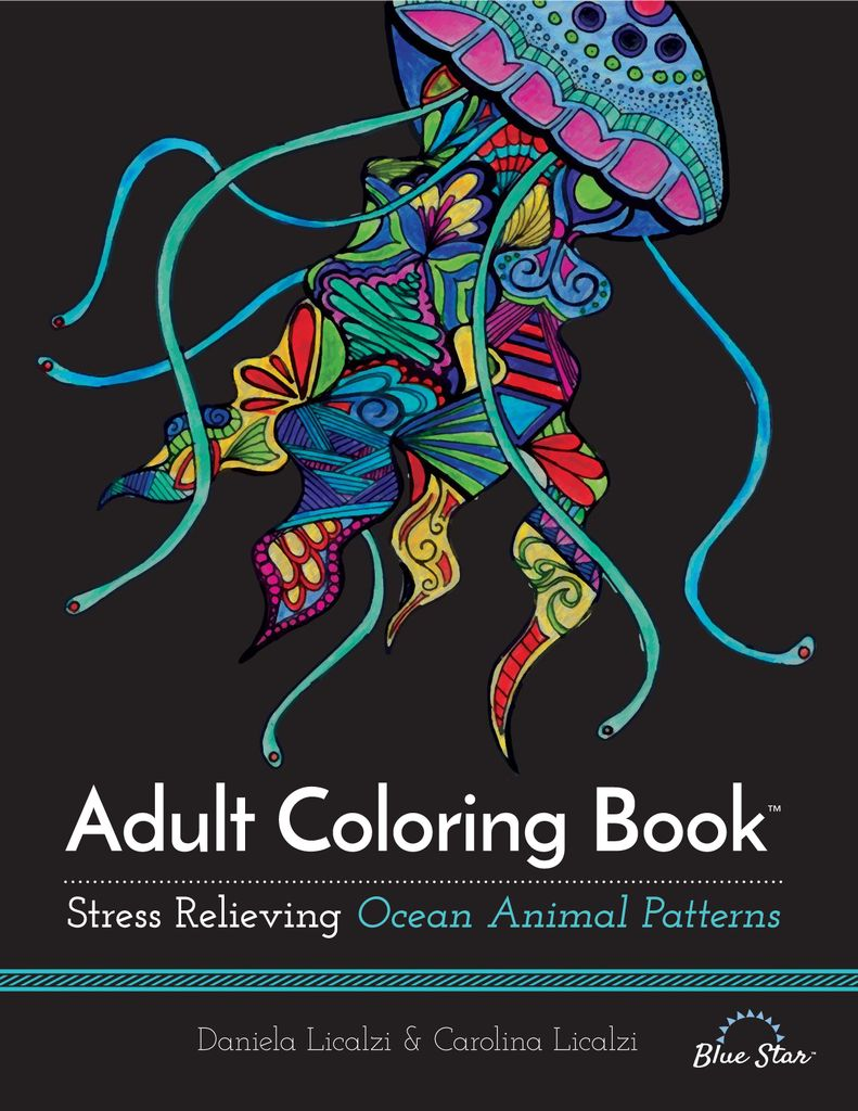 Adult Coloring Book: Ocean Animal Patterns - Issue Subscriptions