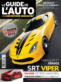 April 01, 2013 issue of Guide de l'auto magazine