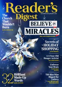 December 31, 2018 issue of Reader's Digest