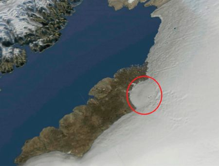 MASSIVE IMPACT CRATER DISCOVERED BENEATH GREENLAND ICE