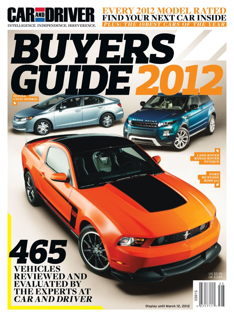 Car and Driver Buyer's Guide - Subscription