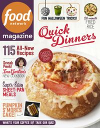 September 30, 2018 issue of Food Network Magazine