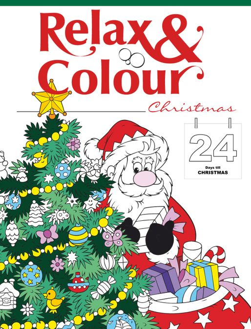 Colouring Book: Relax and Colour Christmas