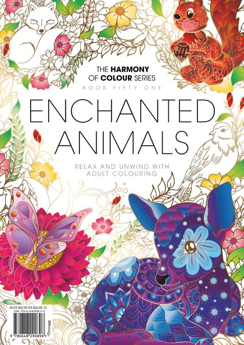 Colouring Book: Enchanted Animals