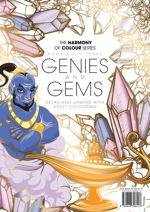 Colouring Book: Genies and Gems
