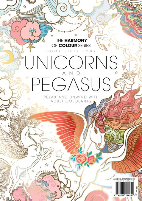 Colouring Book: Unicorns and Pegasus