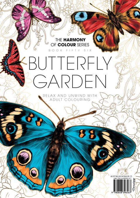 Colouring Book: Butterfly Garden