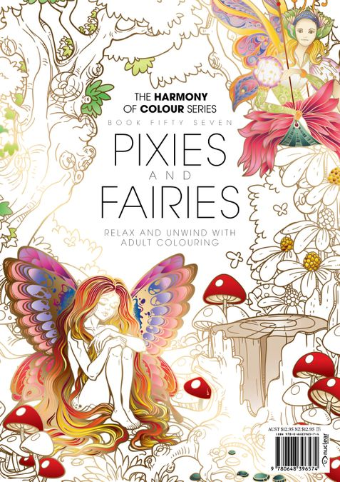 Colouring Book: Pixies  and Fairies