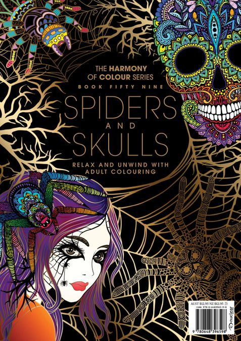 Colouring Book: Spider and Skulls