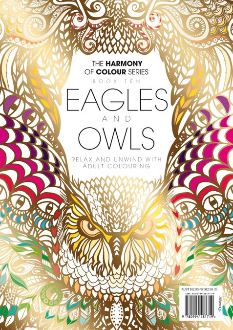 Colouring Book: Eagles and Owls