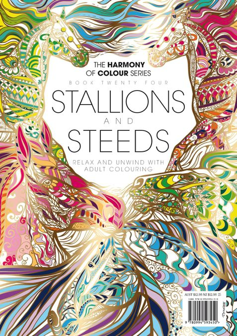 Colouring Book: Stallions and Steeds