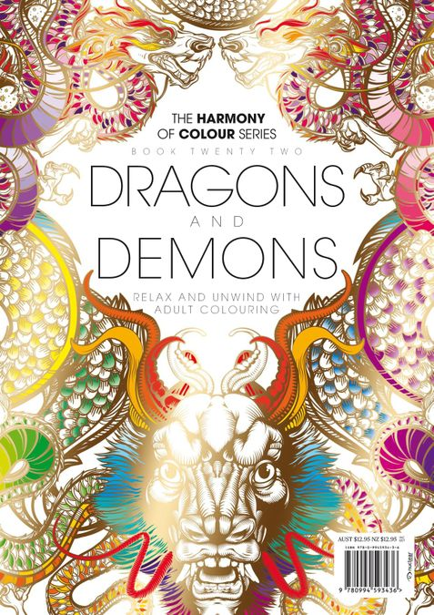 Colouring Book: Dragons and Demons