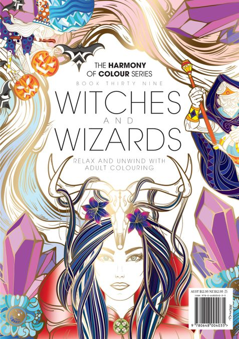 Colouring Book: Witches and Wizards