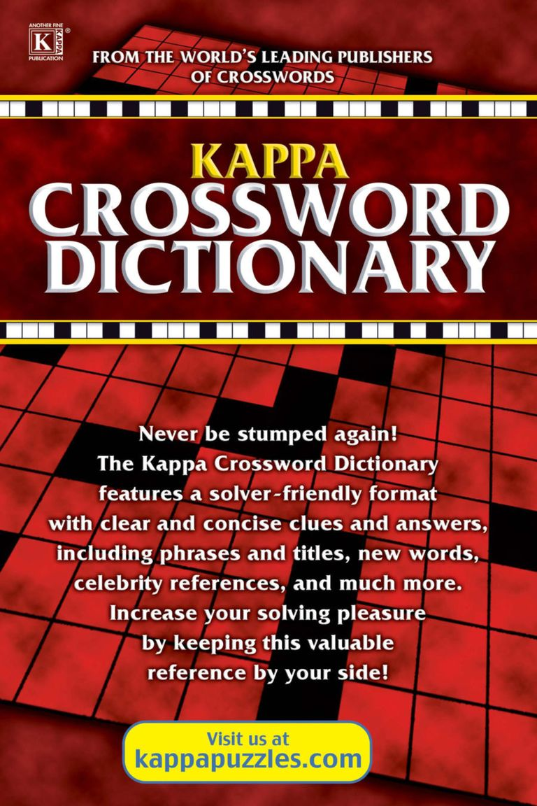 Kappa Crossword Dictionary - Issue Subscriptions