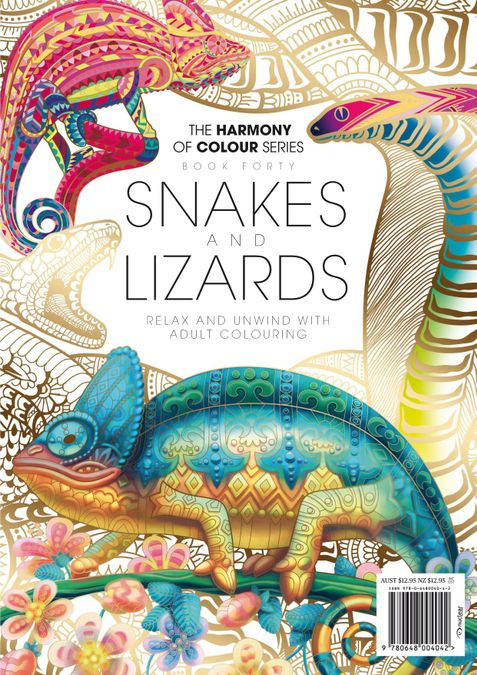 Colouring Book: Snakes and Lizards