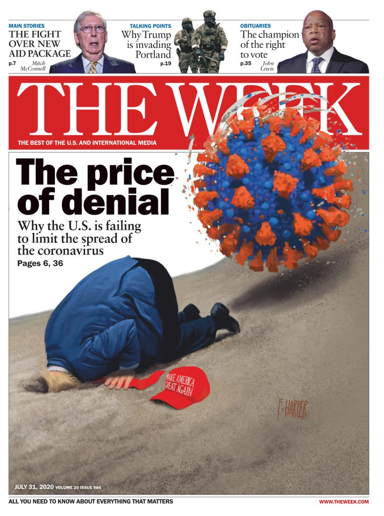 The Week Magazine cover for July 31, 2020.