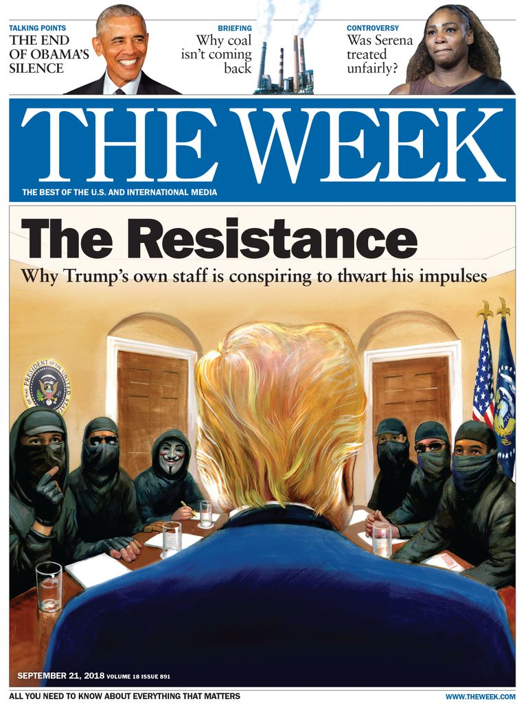 The Week Magazine cover for September 21, 2018.