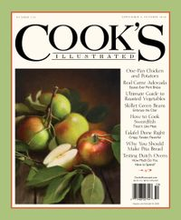 August 31, 2018 issue of Cook's Illustrated