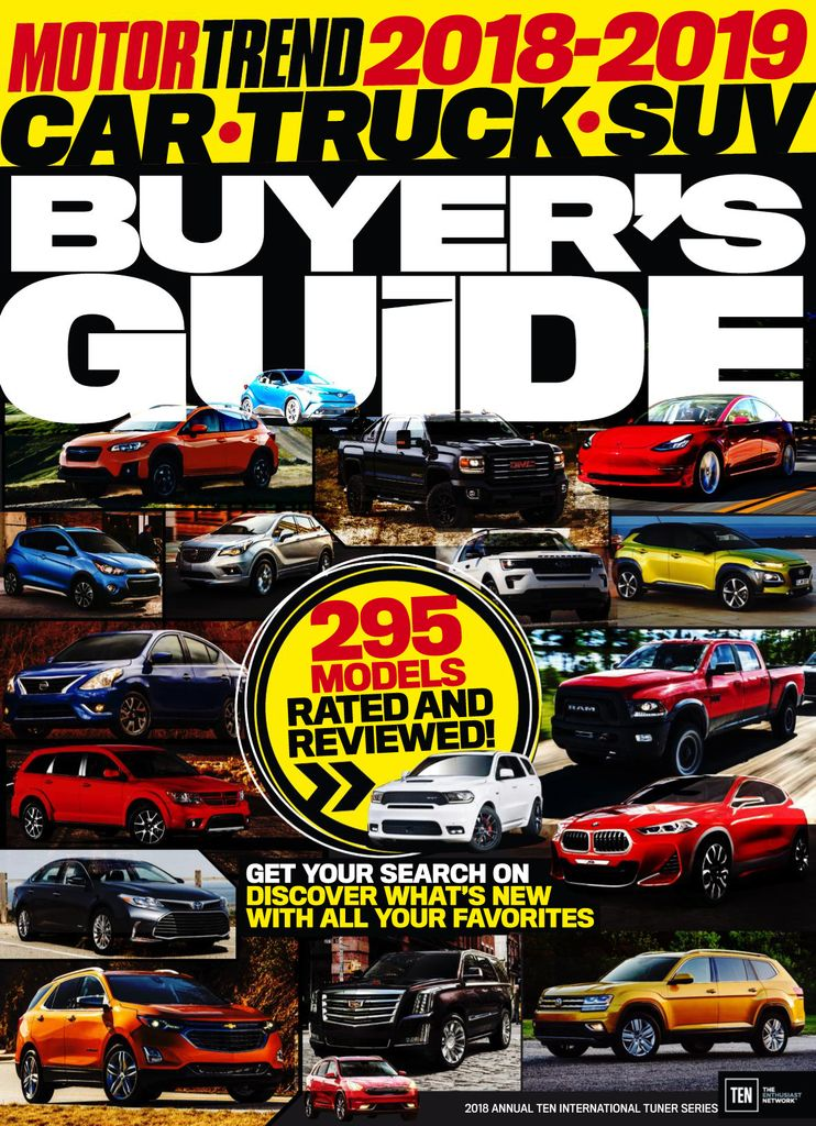 Motor Trend 2018-9 Car Truck SUV Buyer's Guide
