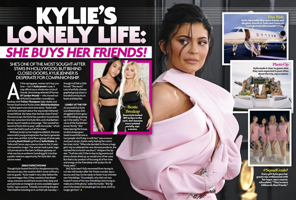 KYLIE'S LONELY LIFE: SHE BUYS HER FRIENDS!